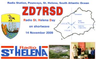 QSL-Karte von Radio St. Helena 2009