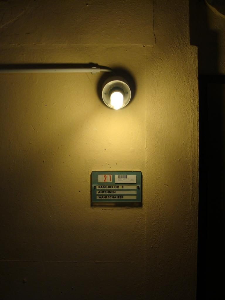 Keller der Sendeanlage Wertachtal