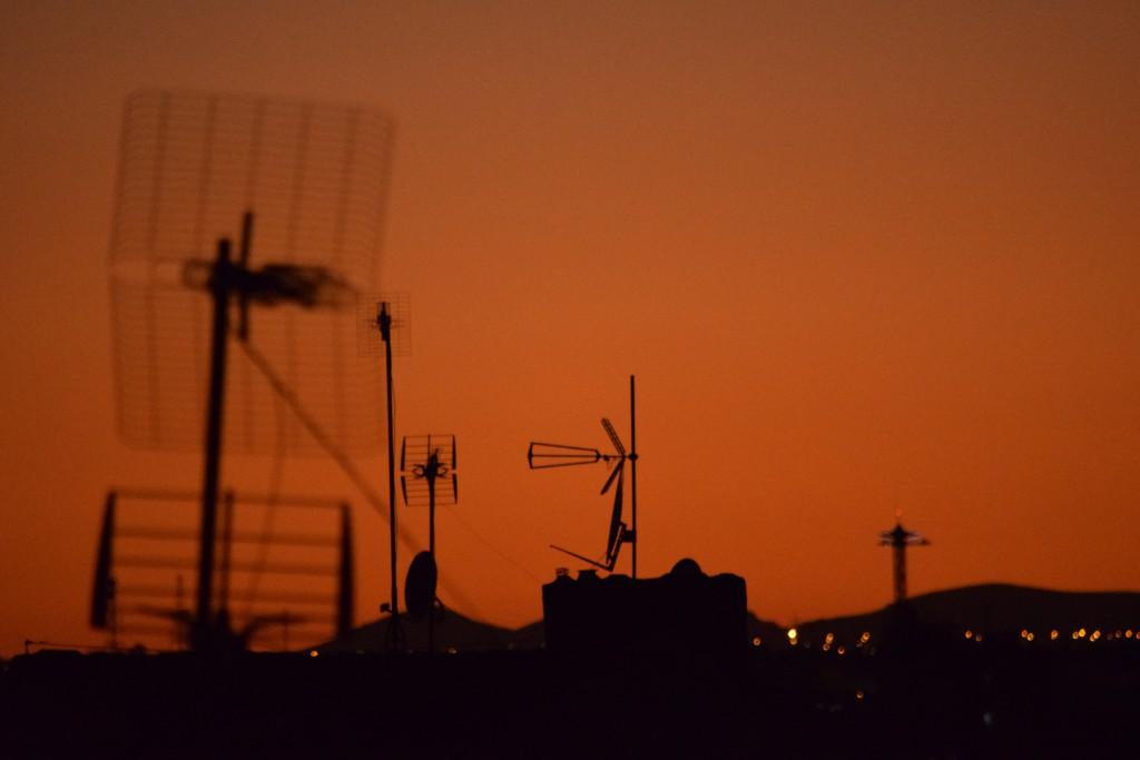 Antennensonnenuntergang